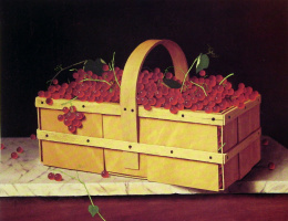 William Michael Harnett. Wooden basket