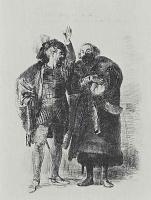 Адольф фон Менцель. Гамлет и Полоний
