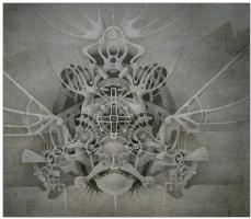 "Natalia Andreevna Korotaeva. Fish-Stone, series ""Mechanical Aquarium"""
