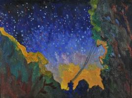 Дмитрий Александрович Мельников. Вечер на закатном Солнце