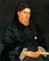 Фердинанд Ходлер. Портрет женщины в черном с веером