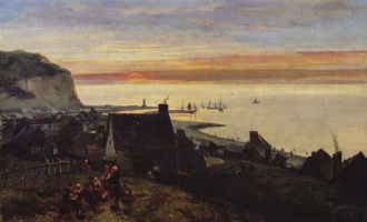 Ян Бартолд Йонгкинд. Порт в Этрета
