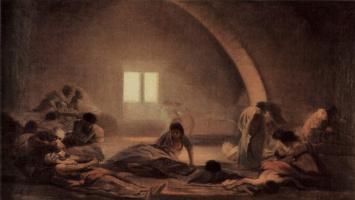 """Франсиско Гойя. Цикл картин """"Ужасы войны"""". Чумной барак"""