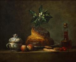 Jean Baptiste Simeon Chardin. Still life with brioche