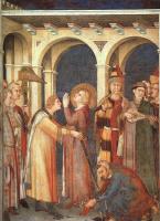 Симоне Мартини. Посвещение Святого Мартина в рыцари