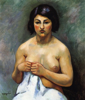 Henri Manguin. Little Marie. Portrait of a seated Nude