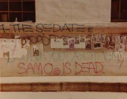 Jean-Michel Basquiat. SAMO is dead