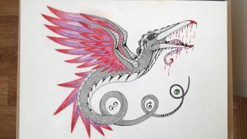 Olga Vasilievna Potapova. Feathered serpent