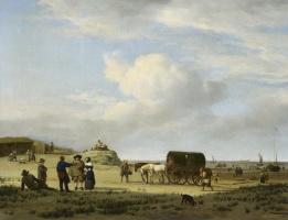Адриан ван де Вельде. Сцена на побережье в Схевенингене