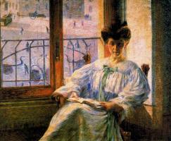 Умберто Боччони. Женщина с книгой у окна