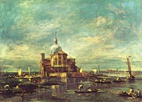 Франческо Гварди. Каприччио: Церковь на островке Лагуны