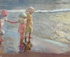Хоакин Соролья (Соройя). Три сестрички на пляже