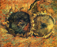 Vincent van Gogh. Two sunflower