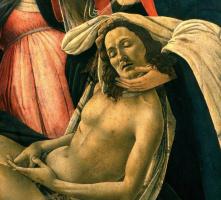 Sandro Botticelli. The lamentation of Christ (detail)