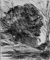 Камиль Коро. Деревья в горах