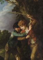 Томас Гейнсборо. Мальчики-пастухи и дерущиеся собаки. Фрагмент