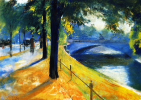 Lesser Ury. The bridge over Underskin channel