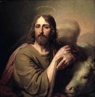 Евангелист Лука. Из «Благовещения». Икона из Царских врат главного иконостаса Казанского собора в Петербурге