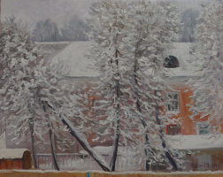 Valery Fedorov. Winter has come! The view from the window.