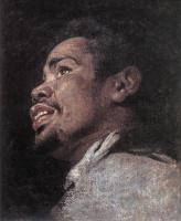 Гаспар де Крауер. Голова молодого мужчины