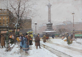 Эжен Галиен. Площадь Бастилии в Париже