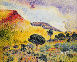Henri Edmond Cross. Mountains des Maures in the South of France