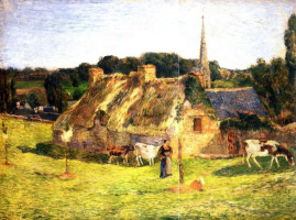 Paul Gauguin. Field Alison and the Church of Pont-Aven