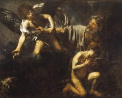 Валантен де Булонь. Авраам приносит в жертву Исаака