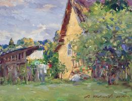 Alexander Victorovich Shevelyov. A yellow wall.D.In.P.oil 30 x 39 cm 2014