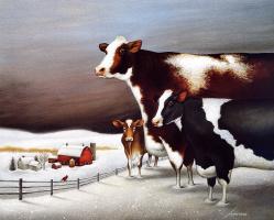 Лоуэлл Эрреро. Коровы в ночное время