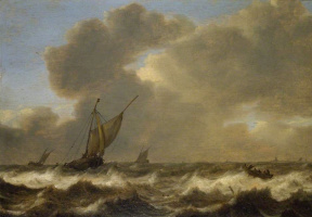 Ян Порселлис. Три парусника и морской ветер