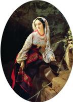 Иван Кузьмич Макаров. Итальянка у источника. 1855