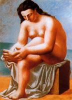 Ю. Пуджиес. Купальщица, вытирающая ноги
