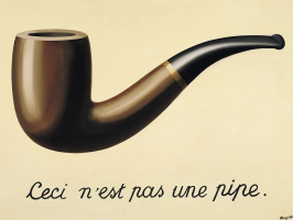 René Magritte. TheTreachery of Images (This is not a pipe)