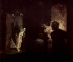 Johann Heinrich Fuessli. The arrival of the mermaid in the fisherman's house