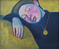 Соня Делоне. Спящая девушка