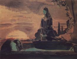 Михаил Александрович Врубель. Надгробный плач (первый эскиз к росписи во Владимирском соборе в Киеве)