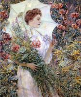 Роберт Рейд. Девушка с белым зонтом