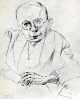Георг Гросс. Мужчина в очках
