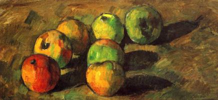 Поль Сезанн. Натюрморт с семью яблоками