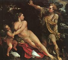 Аннибале Карраччи. Венера, Адонис и Амур
