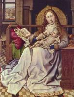 Робер Кампен. Мадонна с младенцем перед экраном камина