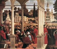 Vittore Carpaccio. The Dispute Of St. Stephen