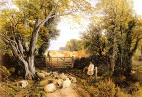 Фридрих Вильгельм Хьюм. Пейзаж в Уэльсе