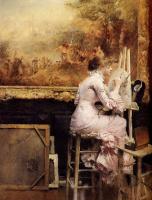 Паскаль Адольф Жан Даньян-Бувре. Девушка с кистью