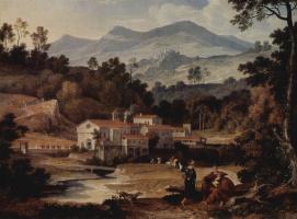 Йозеф Антон Кох. Монастырь Сан Франческо в Сабинских горах близ Рима