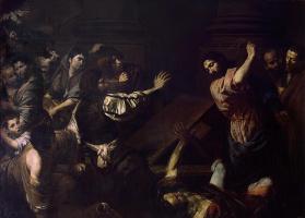 Валантен де Булонь. Изгнание торгующих из храма