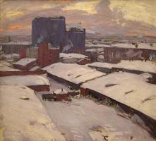 Абрам Ефимович Архипов. Московские дворы. 1913