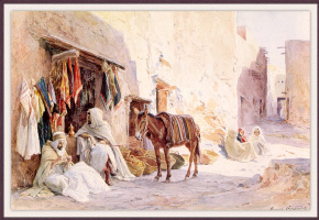 Ан де Жирар. Арабская уличная сцена