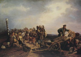 Валерий Иванович Якоби. «Привал арестантов. Авторское повторение» 1860-е